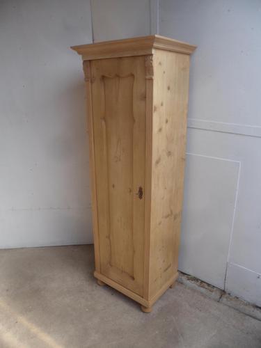 Antique Pine 1 Door Multi Functional / Hall Cupboard to wax / paint (1 of 9)