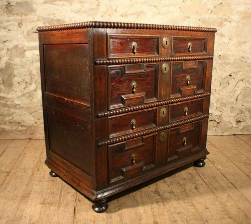 early oak chest of drawers (1 of 6)