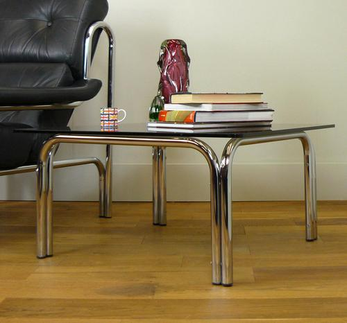 Pieff Kadia Chrome & Smoked Glass Side / Coffee Table (1 of 11)