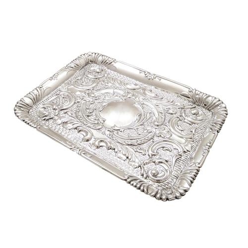 Antique Edwardian Sterling Silver Dressing Tray  1905 (1 of 8)