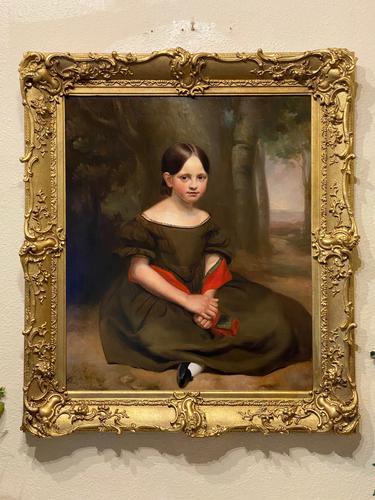 Large & Striking Oil on Canvas in Original Frame by John G. Medland (1 of 3)