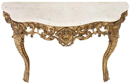 Gilt and Marble Console Table (1 of 10)