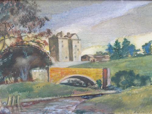 Watercolour Bourthwick  Castle Scotland, A B Moffat (1 of 10)