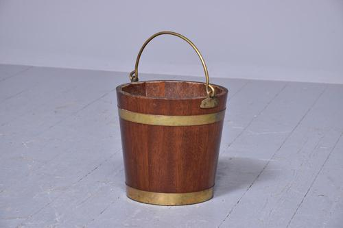 George III Style Brass Bound Mahogany Bucket (1 of 5)