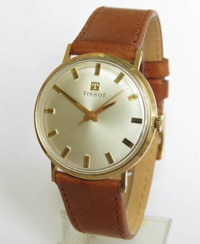 Gents 9ct Gold Tissot Watch, 1965 (1 of 5)