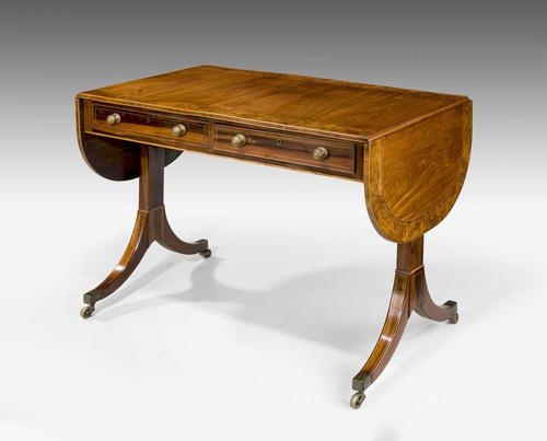 Regency Period Mahogany Sofa Table of Shallow Proportions (1 of 3)