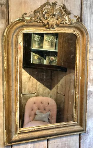 Antique French Crested Mirror (1 of 4)