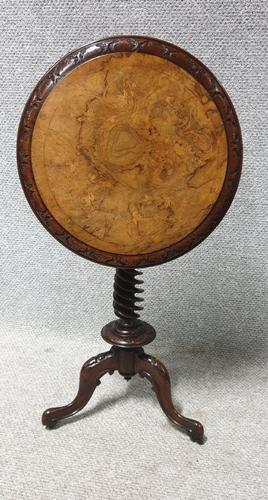 Burr Walnut  Lamp Table (1 of 9)