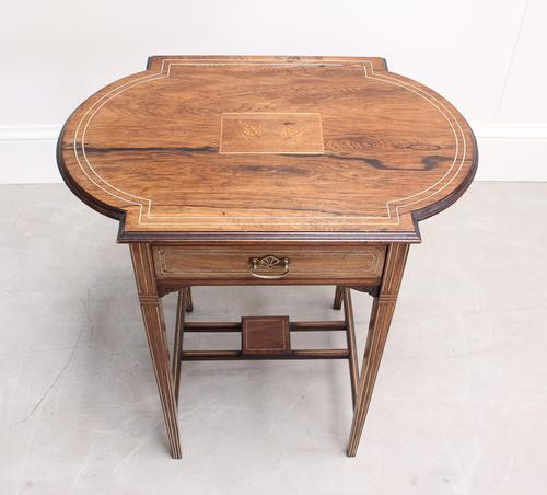 Edwardian Rosewood Occasional Table (1 of 7)