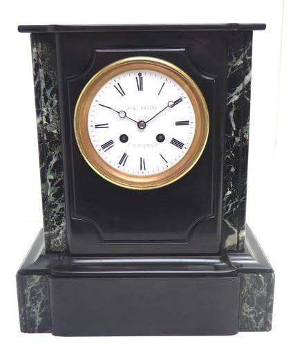 Antique French Slate Mantel Clock Wow! Striking 8-day c.1890 (1 of 11)