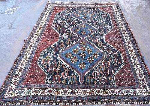 Old Khamseh tribal carpet 260x186cm (1 of 7)