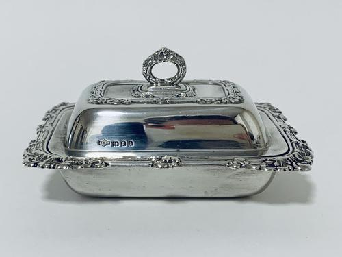 Antique Solid Sterling Silver Butter Dish & Cover (1 of 12)
