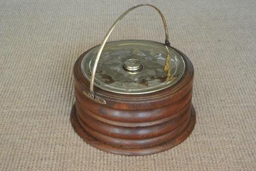 19th Century Dutch Wood & Brass Foot Carriage Warmer Hot Water Bottle (1 of 6)