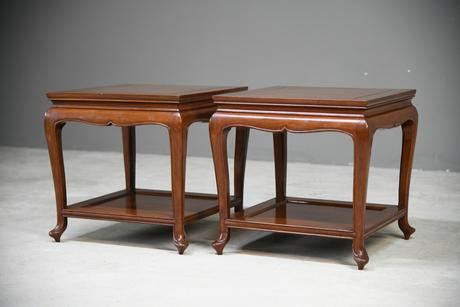 Pair of Chinese Rosewood Side Tables (1 of 13)