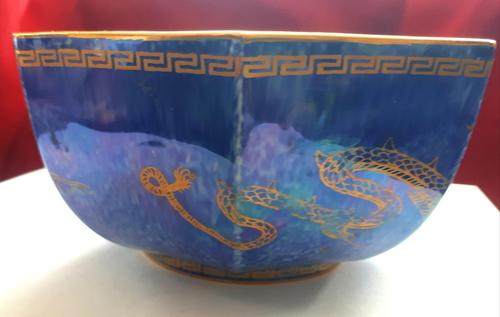 Wedgwood Octagonal  Dragon Lustre Bowl (1 of 7)