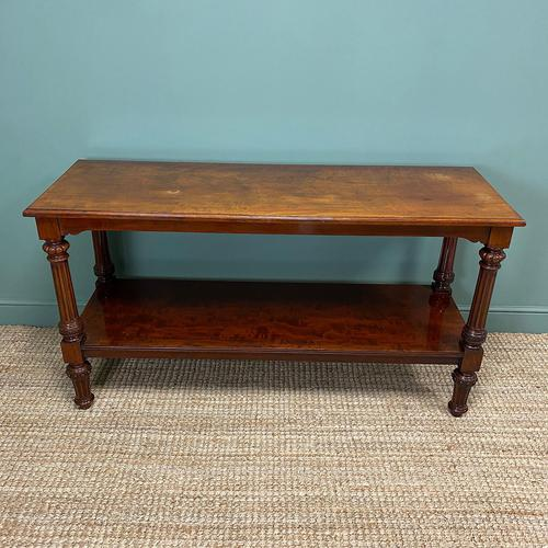 Spectacular Victorian Mahogany Antique Console Table (1 of 8)