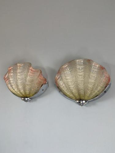Pair of Art Deco Clamshell Wall Lights, Rewired (1 of 12)