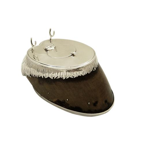 Antique Victorian Sterling Silver Hoof Inkwell 1875 (1 of 10)