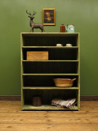 Green Rustic Painted Shelves Kitchen Storage, shabby chic Industrial Shelves (1 of 14)