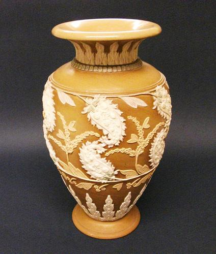 Splendid Royal Doulton Silicon Ware Vase c.1890 (1 of 6)