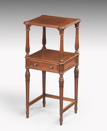 Late 19th Century Mahogany Night Stand or Lamp Table (1 of 5)