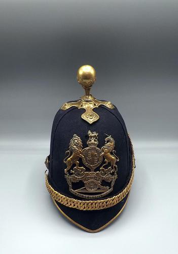 British 1878 Ptn. Home Service Cloth Helmet - Royal Artillery (1 of 7)