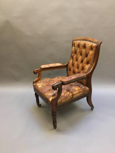 19th Century Rosewood Library Chair (1 of 10)