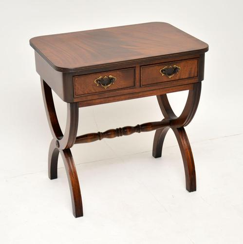 Antique Regency Style Mahogany Side Table (1 of 8)