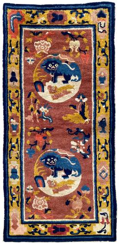 Antique Chinese Ningxia Rug 1.61m x 0.74m (1 of 9)