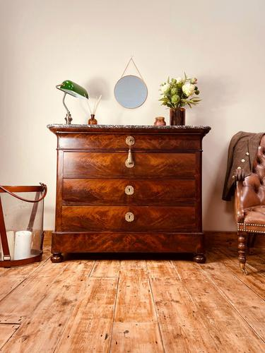 French Antique Drawers / Louis Philippe Commode / Mahogany Chest of Drawers (1 of 7)