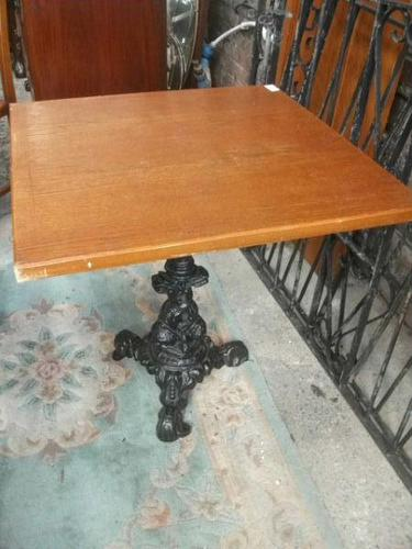 Square Pub Style Pedestal Table (1 of 3)