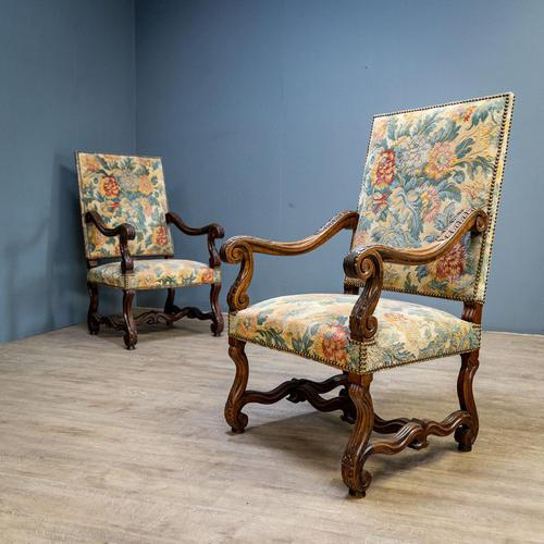 Pair of Carved Armchairs (1 of 8)