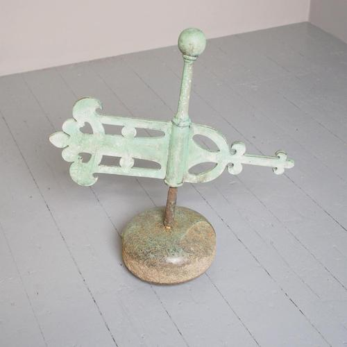 Victorian Scottish Curling Stone With Weather Vane (1 of 8)