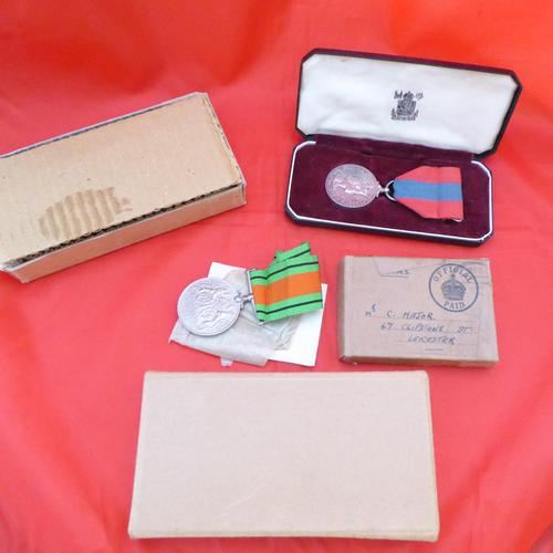 WW2 Medal & Imperial Service Medal to Same Recipient (1 of 5)