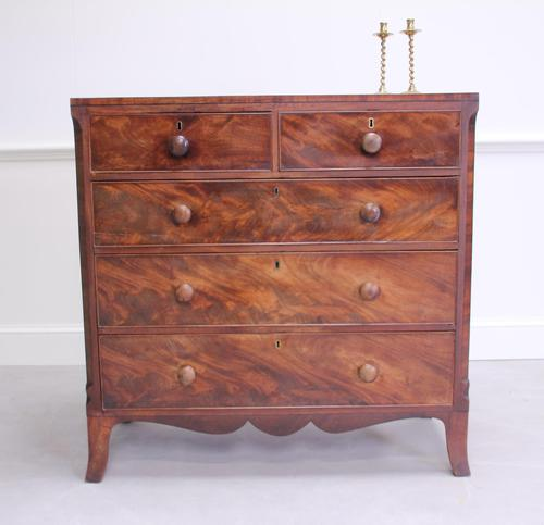 19th Century Flame Mahogany Chest of Drawers (1 of 10)