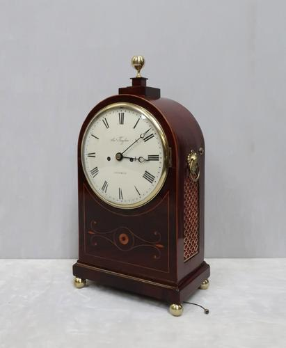 Regency Mahogany Inlaid Bracket Clock by Thwaites & Reed (1 of 8)