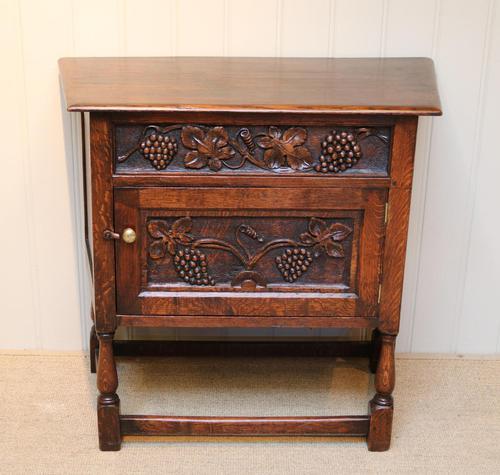 French Dark Oak Side Cabinet (1 of 10)
