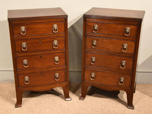 Pair of 19th Century Mahogany Chest of Drawers (1 of 6)