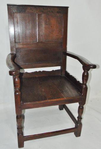 Early Welsh Oak Waincot Chair (1 of 12)