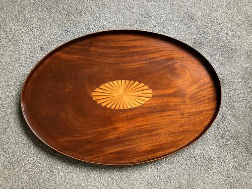George III Figured Mahogany Oval Tray (1 of 6)