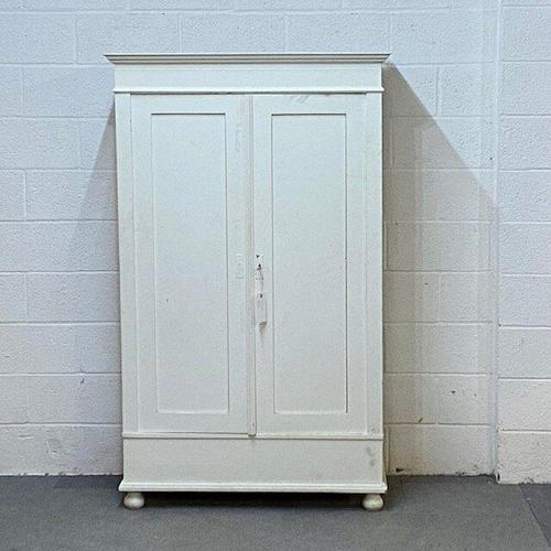 Small Double Painted Old Pine Wardrobe - Dismantles (1 of 4)