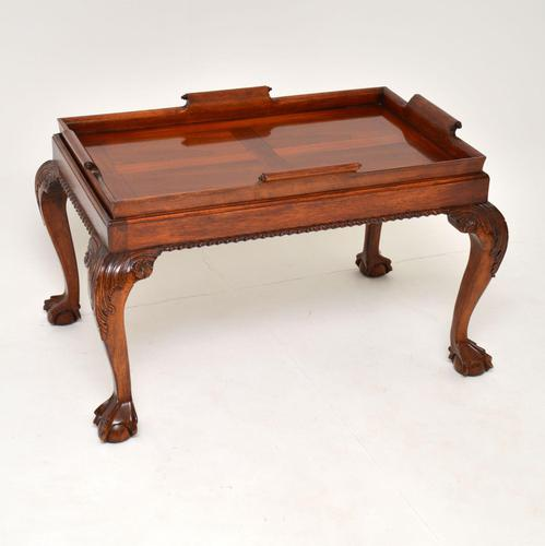 Mahogany Chippendale Style Tray Top Coffee Table (1 of 12)