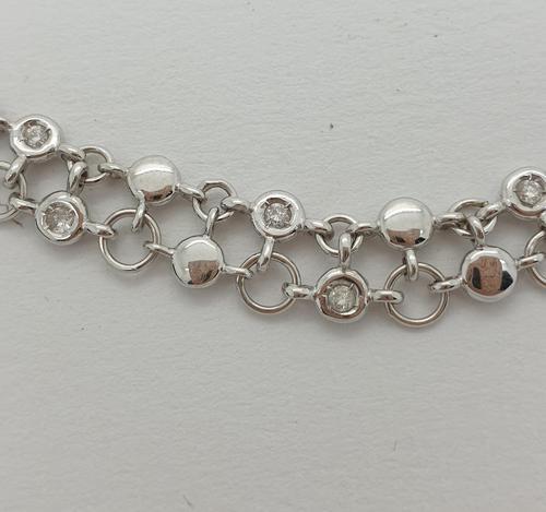 Double Row Diamond Necklace (1 of 5)