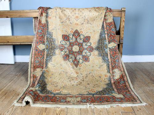 Vintage Ivory Ground Persian Medallion Rug (1 of 6)