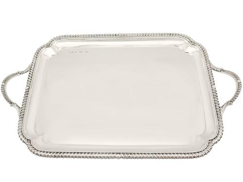 Sterling Silver Tray - Antique Edwardian (1 of 9)