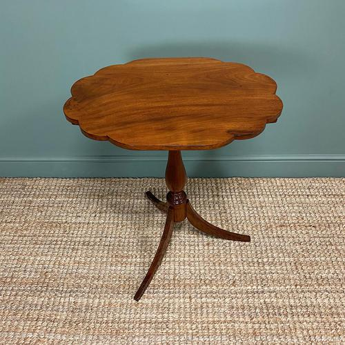 Victorian Mahogany Antique Tripod Occasional Wine / Lamp Table (1 of 6)