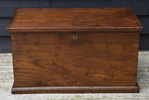 Lovely 19th Century Elm Box / Chest / Blanket Box c.1830 (1 of 13)