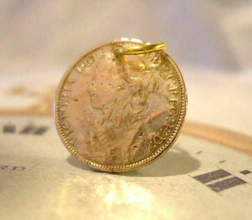 Antique Pocket Watch Chain Fob 1830s  Victorian 9ct Rolled Gold Queen Victoria Fob (1 of 5)