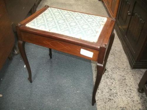 Edwardian Inlaid Mahogany Piano Stool (1 of 5)