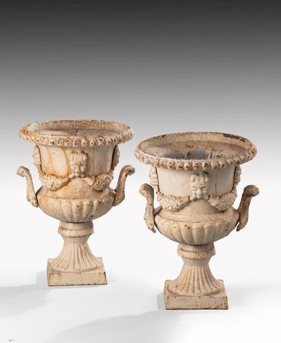Attractive Pair of Late 19th Century Neoclassical Style Garden Urns (1 of 5)